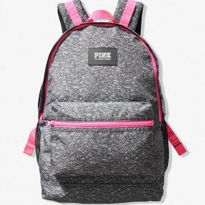 Victoria's Secret PINK Campus Backpack Gray Pink